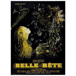 Affiche La Belle et la Bête - Jean Cocteau 1946 (2013) - 40x53 cm