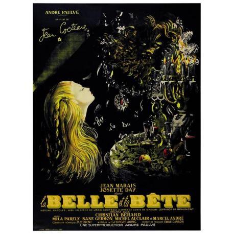La Belle et la Bête de Jean Cocteau 1946 (2013) - 40x53 cm - Affiche officielle du film