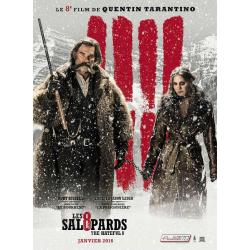 8 salopards Kurt Russel et Jennifer Jason Leigh de Quentin Tarantino 2016 - 40x53 cm - Affiche officielle du film