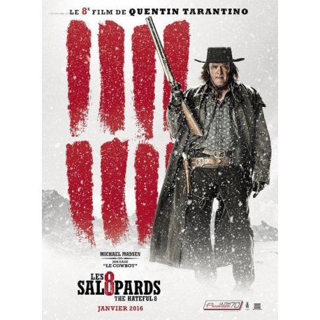 8 salopards Michael Madsen de Quentin Tarantino 2016 - 40x53 cm - Affiche officielle du film