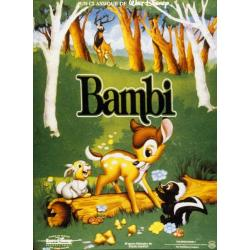 Bambi Walt Disney de David Hand, James Algar, Samuel Armstrong 2011 - 40x53 cm - Affiche officielle du film
