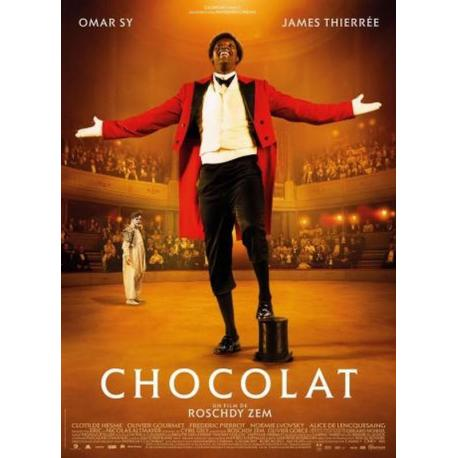 Chocolat avec Omar Sy de Roschdy Zem 2016 - 40x53 cm - Affiche officielle du film