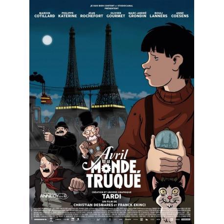 Avril et le monde truqué de Franck Ekinci, Christian Desmares 2015 - 40x53 cm - Affiche officielle du film