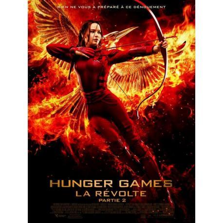 """Hunder Games """"La révolte partie 2"""" de Francis Lawrence 2015 - 40x53 cm Pliée - Affiche officielle du film"""