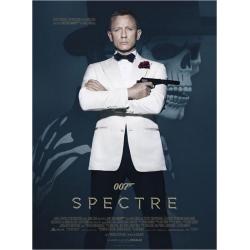 Affiche Spectre 007 avec Daniel Graig - Sam Mendes 2015 - 120 x160 cm Pliée