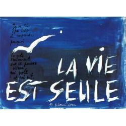 Carte Déborah Choc - La vie est seule - Les couleurs de la Vie - 10.5x15 cm