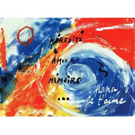 Carte Déborah Choc - Papa... - Les couleurs de la Vie - 10.5x15 cm