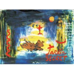 Carte Déborah Choc - Jardin secret - Les couleurs de la Vie - 10.5x15 cm
