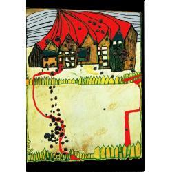 Carte Hundertwasser - Maisons enneigées - 11.2x16 cm