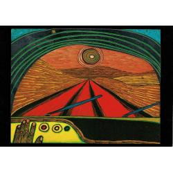 Carte Hundertwasser - Le chemin vers toi - 11.2x16 cm