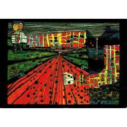 Carte Hundertwasser - La route vers le socialisme - 11.2x16 cm