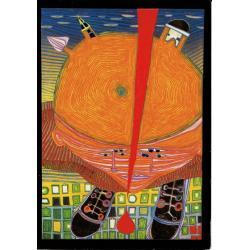 Carte Hundertwasser - Mes connaissances en Tchèque - 11.2x16 cm