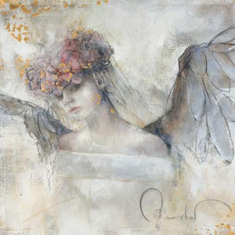 Carte Elvira Amrhein - Blumenengel - 14x14 cm