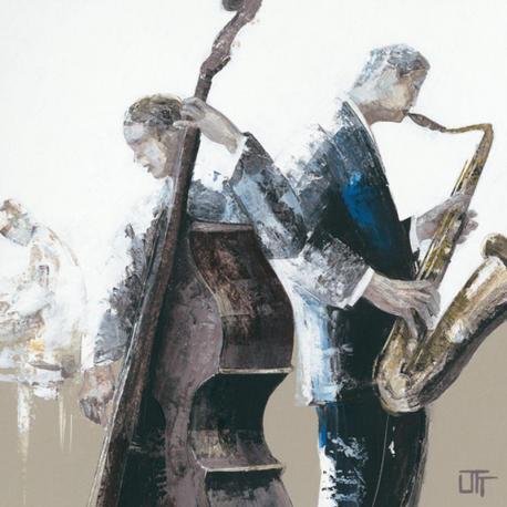 Carte Bernard Ott - Jazz Band - 14x14 cm