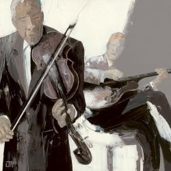 Carte Bernard Ott - Le violon - 14x14 cm