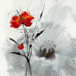 Carte Isabelle Zacher_Finet - Petite aventure fleurie I - 14x14 cm