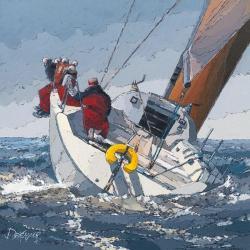 Carte Guy Dekeryver - Dans le clapot - 14x14 cm