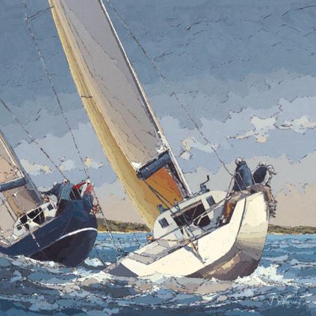 Carte Guy Dekeryver - Bord à Bord - 14x14 cm