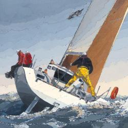 Carte Guy Dekeryver - Petite brise - 14x14 cm