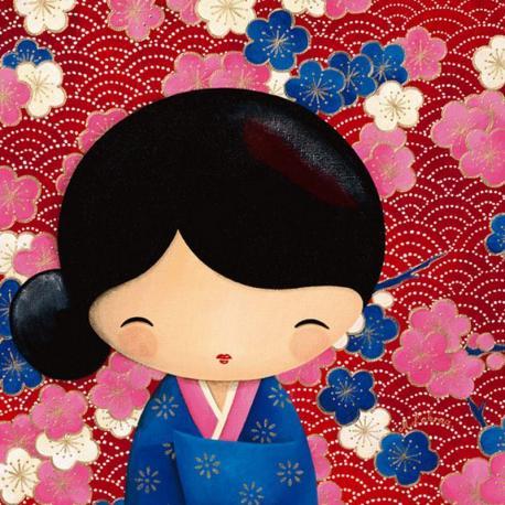 Carte Myriam Lakraa - Mariko, série Washi - 14x14 cm