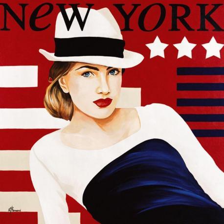 Carte Anne Bernard - Femme New York - 14x14 cm