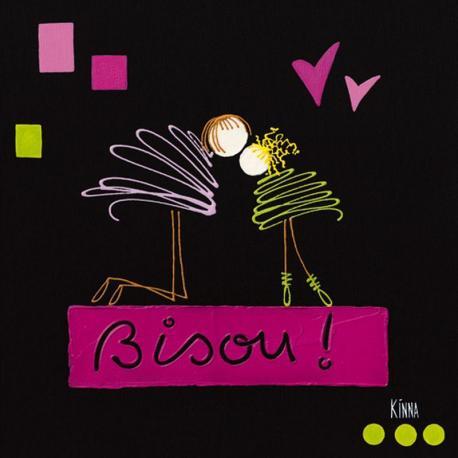 Carte Kinna - Le bisou I - 14x14 cm