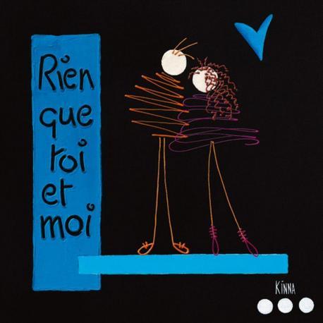 Carte Kinna - Les Amoureux - 14x14 cm
