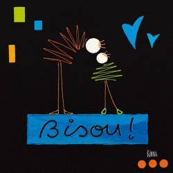 Carte Kinna - Le bisou II - 14x14 cm