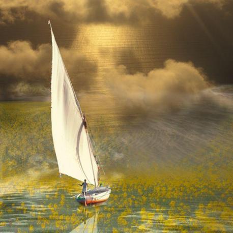 Carte Maïlo - Voyage du navigateur solitaire - 14x14 cm