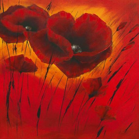 Carte Isabelle Zacher_Finet - Quand l´amour fleurit I - 14x14 cm