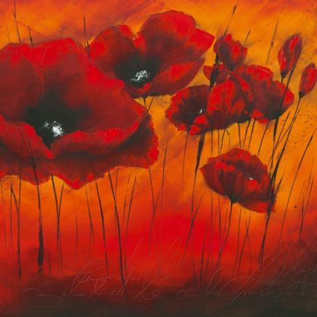 Carte Isabelle Zacher_Finet - Quand l´amour fleurit II - 14x14 cm