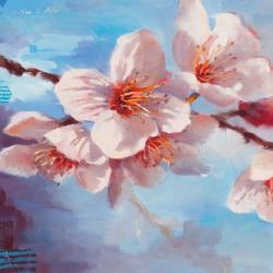Carte Emmanuelle Mertian_de_Muller - Ephémère floraison II - 14x14 cm