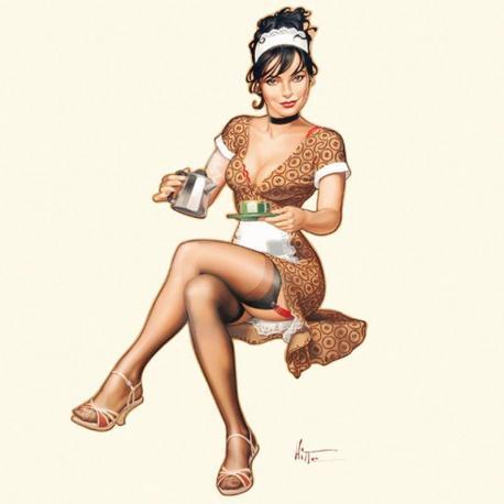 Carte Patrick Hitte - Thé ou café - 14x14 cm