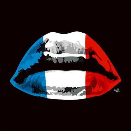 Carte Morgan Paslier - French Kiss - 14x14 cm