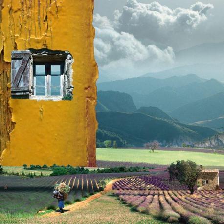 Carte Maïlo - Fenêtre ouverte sur la provence - 14x14 cm