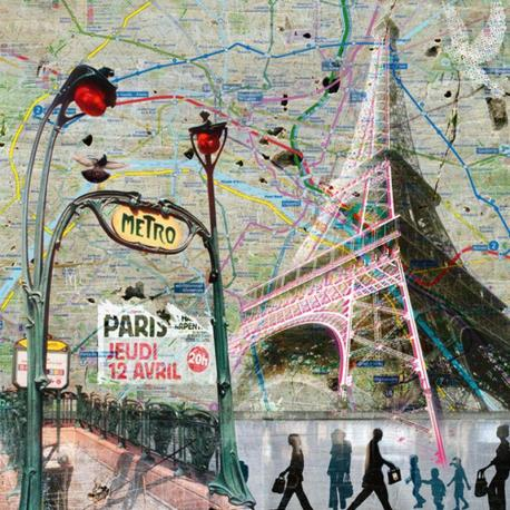 Carte Maïlo - Impressions urbaines Le Métro - 14x14 cm
