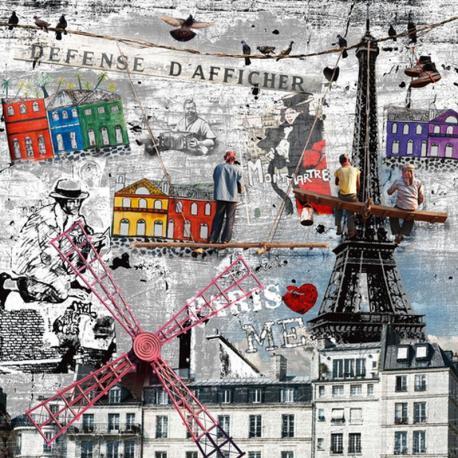 Carte Maïlo - Impressions urbaines peintres Paris - 14x14 cm