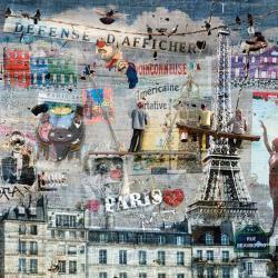 Carte Maïlo - Peintres de graffitis: Paris - 14x14 cm
