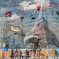 Carte Maïlo - Impressions urbaines La Tour Eiffel - 14x14 cm
