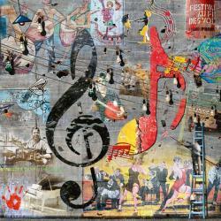 Carte Maïlo - Le peintre de clé de sol - 14x14 cm