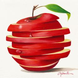Carte Paolo Golinelli - Red apple cut - 14x14 cm