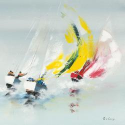 Carte Gérard de_Courcy - Les Spi jaunes - 14x14 cm
