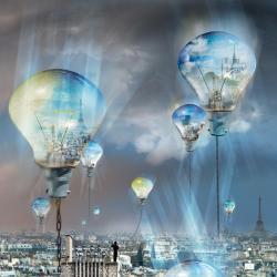 Carte Maïlo - Rêves de cité: Paris, les lumières... - 14x14 cm