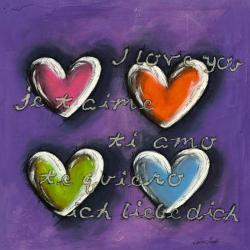 Carte Carine Mougin - Je t'aime I - 14x14 cm