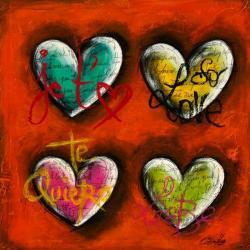 Carte Carine Mougin - Je t'aime III - 14x14 cm