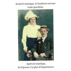 Carte Cath Tate - Avant le mariage, le bonheur est... - 10.5x15 cm