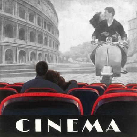 Carte Marco Fabiano - Cinéma Roma - 14x14 cm
