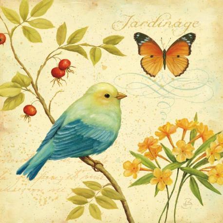 Carte Daphné Brissonnet - Garden Passion I - 14x14 cm