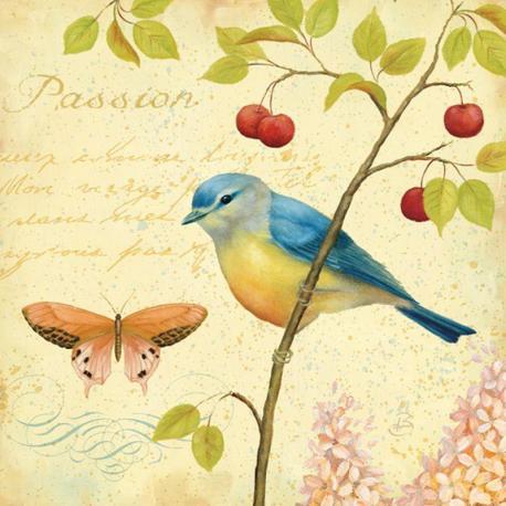 Carte Daphné Brissonnet - Garden Passion II - 14x14 cm