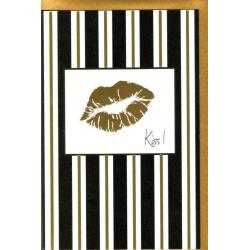 Carte Very Chic - Kiss - 12x17 cm